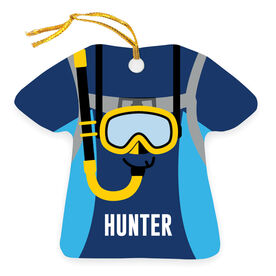 Personalized Ornament - Scuba Outfit