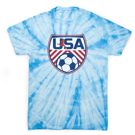 Soccer Short Sleeve T-Shirt - Soccer USA Tie Dye