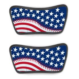 Baseball Repwell® Sandal Straps - American Flag Ball