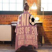 Soccer Premium Blanket - Personalized Soccer Senior Class Of
