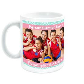 Volleyball Coffee Mug Custom Photo With Pattern