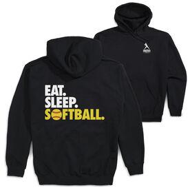 Softball Hooded Sweatshirt - Eat. Sleep. Softball (Logo Collection)