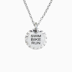 Livia Collection Sterling Silver Scalloped Swim Bike Run Necklace