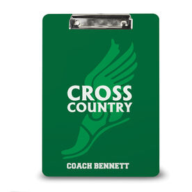 Cross Country Custom Clipboard Winged Foot