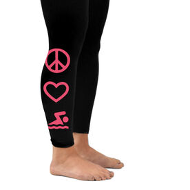Swim Leggings Peace Love Swim