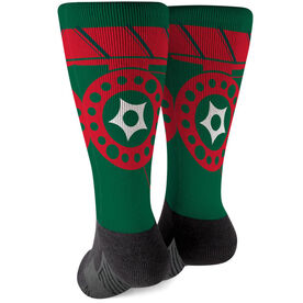 Fly Fishing Printed Mid-Calf Socks - Reel Me In