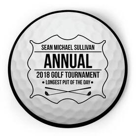 Golf Circle Plaque - Golf Tournament Ball