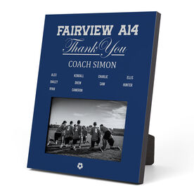 Soccer Photo Frame - Thank You Coach Roster