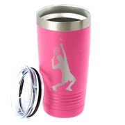 Tennis 20 oz. Double Insulated Tumbler - Male Silhouette