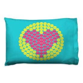 Tennis Pillowcase - Love Ball Circle
