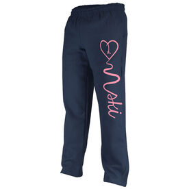 Skiing Fleece Sweatpants Love 2 Ski