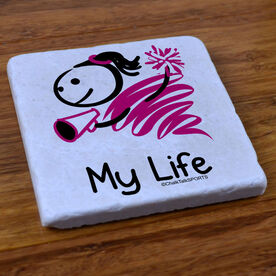 My Life Cheerleading - Stone Coaster
