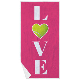 Tennis Premium Beach Towel - LOVE with Ball