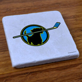Hockey Dog - Stone Coaster