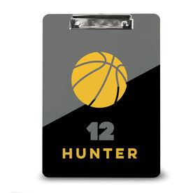 Basketball Custom Clipboard Personalized Basketball Color Block