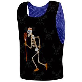 Guys Lacrosse Pinnie - Halloween Skeleton