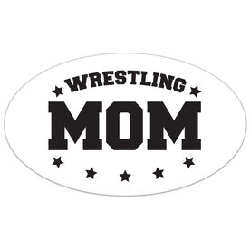 Wrestling Oval Car Magnet Wrestling Mom