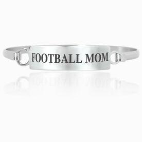 Football Engraved Clasp Bracelet - Mom (Text)