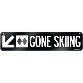 "Skiing Aluminum Room Sign Gone Skiing (4""x18"")"