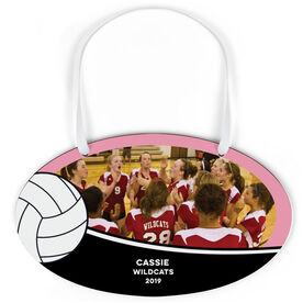 Volleyball Oval Sign - Team Photo With Ball