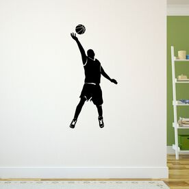 Basketball Guy Reaching Silhouette Removable ChalkTalkGraphix Wall Decal