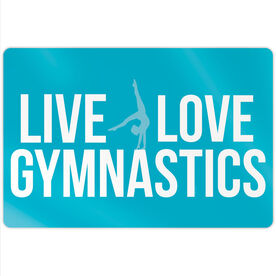 "Gymnastics 18"" X 12"" Aluminum Room Sign - Live Love Gymnastics"
