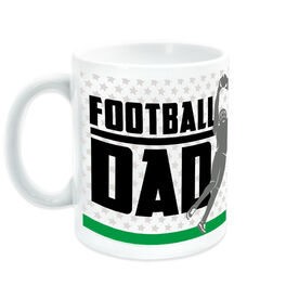 Football Coffee Mug Dad with Silhouette