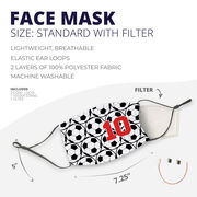 Soccer Face Mask - Personalized Soccer Ball Pattern