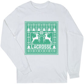 Lacrosse Long Sleeve T-Shirt - Lacrosse Christmas Knit