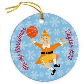 Basketball Porcelain Ornament Elf