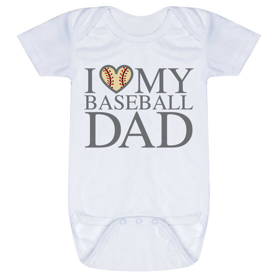 Baseball Baby One-Piece - I Love My Baseball Dad