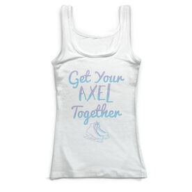 Figure Skating Vintage Fitted Tank Top - Get Your Axel Together