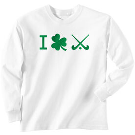 Field Hockey Tshirt Long Sleeve I Shamrock Field Hockey