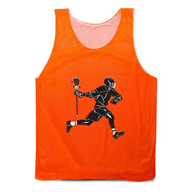 Guys Lacrosse Pinnie - Lax Player Silhouette
