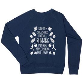 Running Raglan Crew Neck Sweatshirt - Fall Running