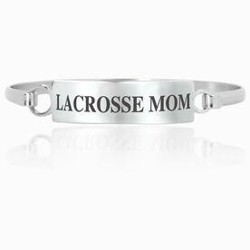 Lacrosse Engraved Clasp Bracelet - Mom (Text)