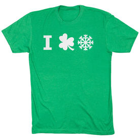 Skiing & Snowboarding Short Sleeve T-Shirt - I Shamrock Snow