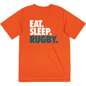 Rugby Short Sleeve Performance Tee - Eat. Sleep. Rugby.