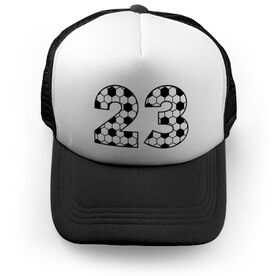 Soccer Trucker Hat - Custom Numbers