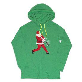Men's Baseball Lightweight Hoodie - Baseball Santa