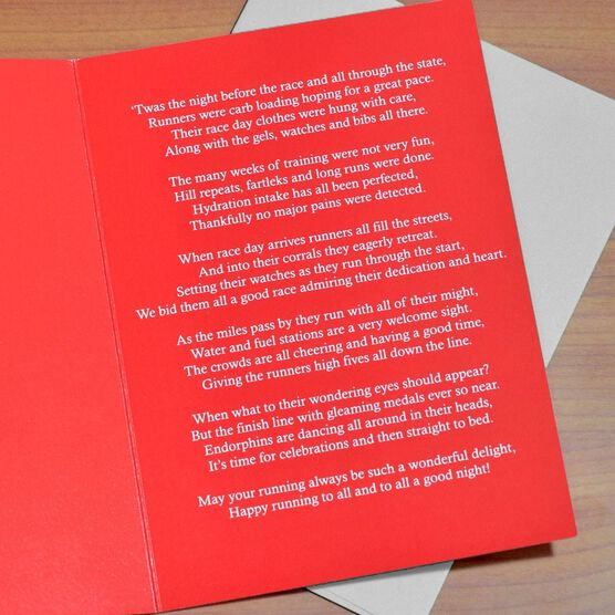 Twas The Night Before The Race Greeting Card - Box Set of 12