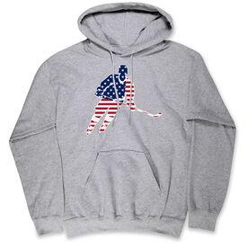 Hockey Hooded Sweatshirt - Hockey Stars and Stripes Player