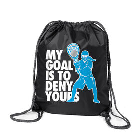 Girls Lacrosse Sport Pack Cinch Sack - My Goal Is To Deny Yours