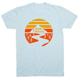 Running Short Sleeve T-Shirt - Run Trails Sunset