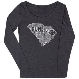 Women's Scoop Neck Long Sleeve Runners Tee South Carolina State Runner
