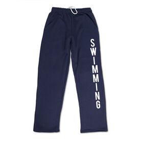 Swimming Fleece Sweatpants - Swimming Word