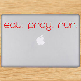 Eat Pray Run Removable GoneForaRunGraphix Laptop Decal