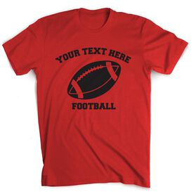 Custom Football T-Shirt Short Sleeve