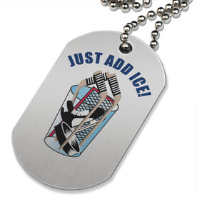 Just Add Ice Printed Dog Tag Necklace