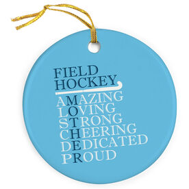 Field Hockey Porcelain Ornament - Mother Words